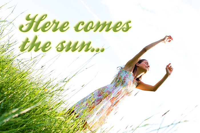 Here comes the sun   age fotostock