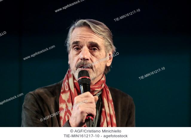 Jeremy Irons during Europe for the theater awards, Rome, 16/12/2017