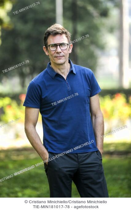 The Director Michel Hazanavicius during the photocall of the film Redoubtable. Rome, Italy 18/10/2017