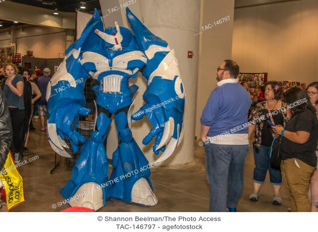 A fan showing off his creation on June 24th 2017 at the Amazing Las Vegas Comic Con in the Las Vegas Convention Center in Las Vegas, NV