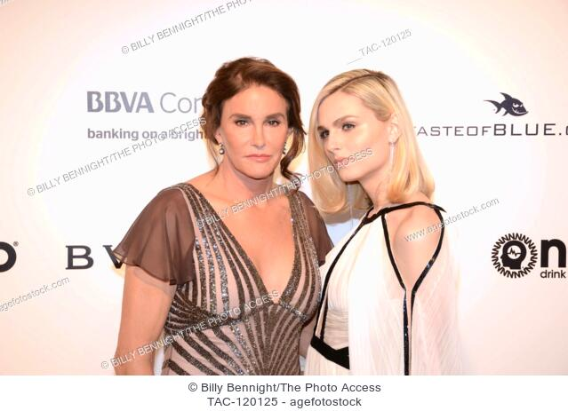 Caitlin Jenner and Andrea Pejic on the red carpet at the 2017 Elton John AIDS Foundation Academy Awards Viewing Party