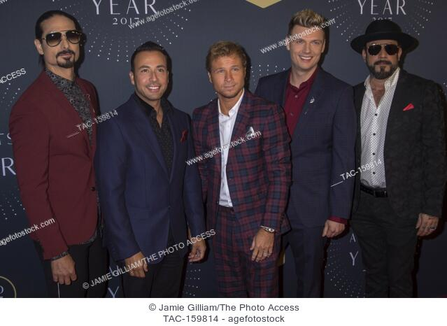 NASHVILLE, TN - The Backstreet Boys arrives on the red carpet at the 2017 CMT Artists of the Year at the Schermerhorn Symphony Center in Nashville, TN