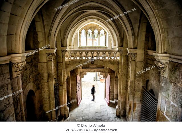 Inside of Sanctuary of the Blessed Virgin Mary, Rocamadour (department of Lot, region of Midi-Pyrénées, France)