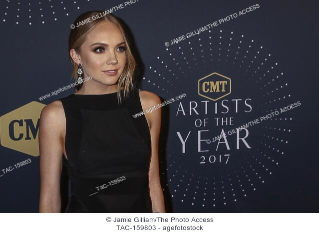 NASHVILLE, TN - Danielle Bradbery arrives on the red carpet at the 2017 CMT Artists of the Year at the Schermerhorn Symphony Center in Nashville, TN