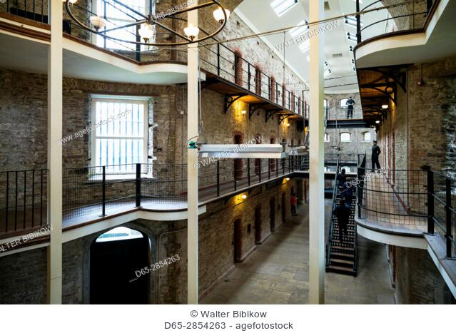 Ireland, County Cork, Cork City, Cork City Gaol, jail museum, West Wing interior