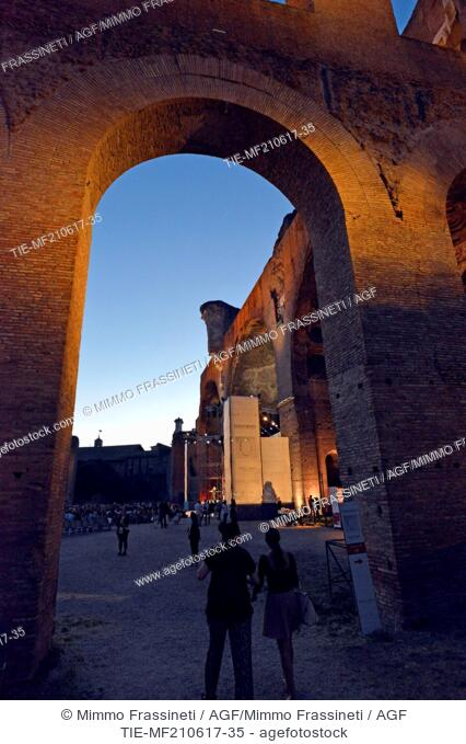 The Opening evening of International Literatures Festival, Rome, ITALY-20-06-2017
