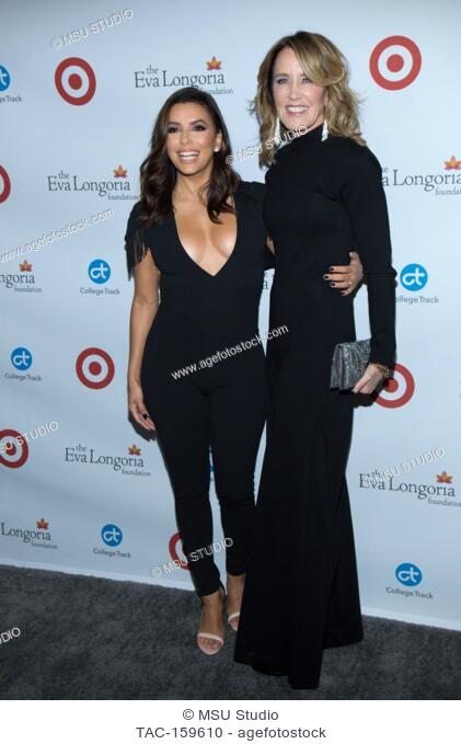 Eva Longoria and Felicity Huffman attend the 6th Annual Eva Longoria Foundation Dinner at Four Seasons Hotel Los Angeles at Beverly Hills on October 12