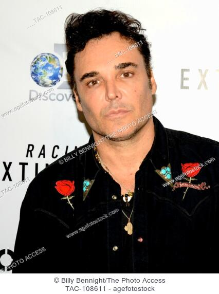 """David LaChapelle arrives at the Los Angeles premiere of the Discovery Channel's """"""""Racing Extinction"""""""" in West Hollywood"""