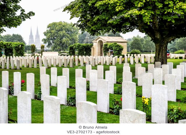 The Bayeux War Cemetery is the largest Second World War cemetery of Commonwealth soldiers in France, located in Bayeux, (department of Calvados