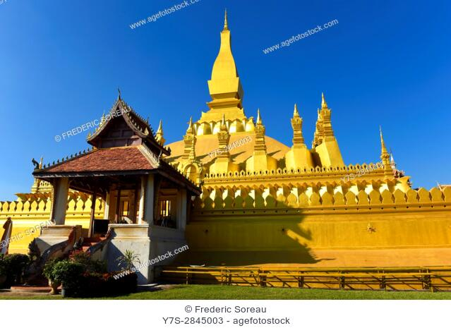 Pha That Luang temple,Vientiane,Laos,Southeast Asia
