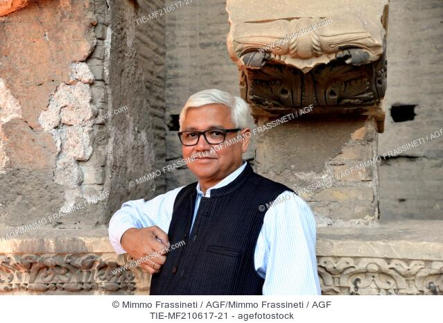 The writer Amitav Ghosh during the Opening evening of International Literatures Festival, Rome, ITALY-20-06-2017