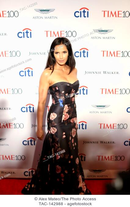 Padma Lakshmi attends the 2017 Time 100 Gala at Jazz at Lincoln Center on April 25, 2017 in New York City