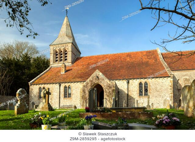 St Mary's church in Slindon village, West Sussex, England