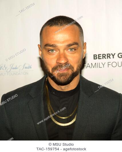 Jesse Williams attends Sunday Matinee of 'Turn Me Loose' at Wallis Annenberg Center for the Performing Arts on October 15, 2017 in Beverly Hills, California