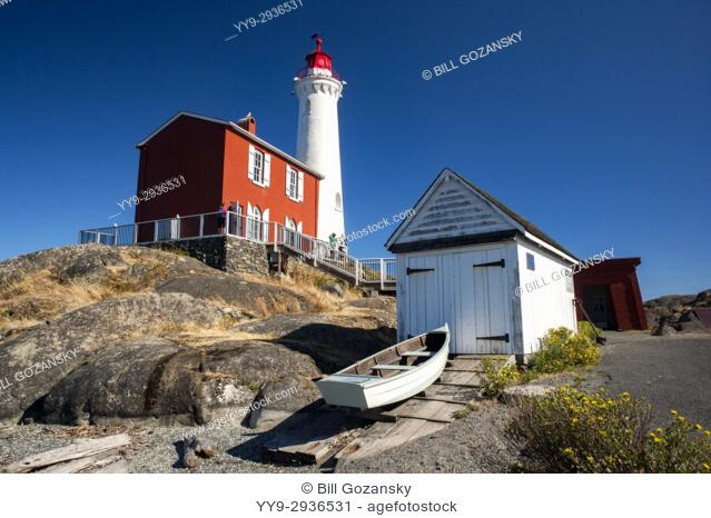 Fisgard Lighthouse and Fort Rodd Hill, Victoria, Vancouver Island, British Columbia, Canada
