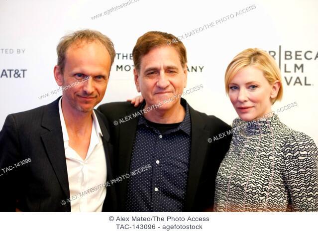 Cate Blanchett and Julian Rosefeldt the Tribeca Film Festival screening of Manifesto on April 26th, 2017 in New York City