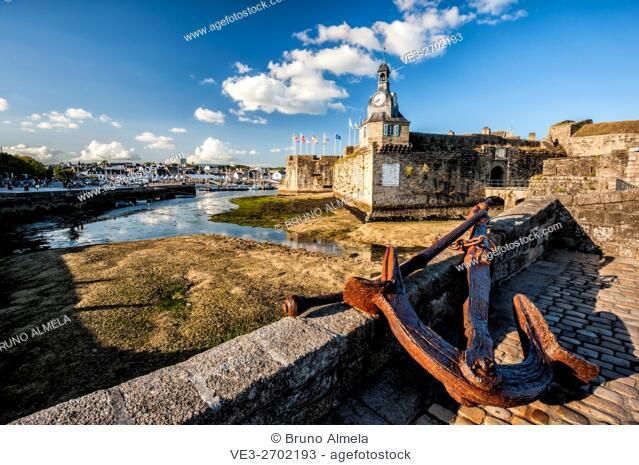 Anchor in entrance of Concarneau citadel (department of Finistère, region of Bretagne, France)