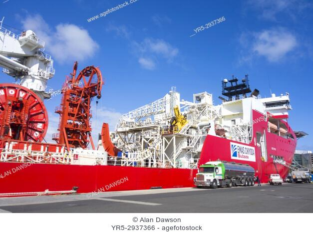 Lewek Connector, one of the largest and most advanced subsea installation and construction vessels in the world. The Lewek Connector is one of the largest and...