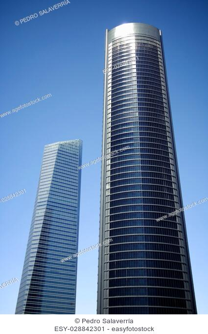 Cuatro Torres Business Area next to the Paseo de la Castellana. Madrid, Spain