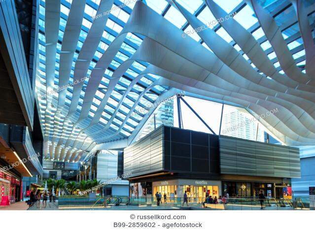 CLIMATE RIBBON ROOF BRICKELL CITY CENTER SHOPPING MALL (©ARQUITECTONICA / HUGH DUTTON 2016) DOWNTOWN MIAMI FLORIDA USA