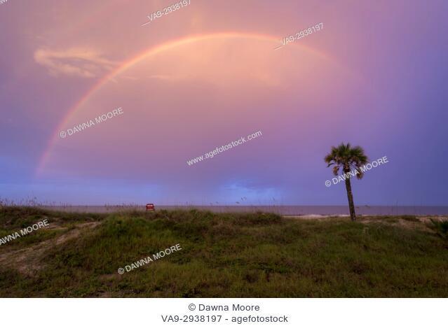 Rainbow over the Ocean, Amelia Island, Florida
