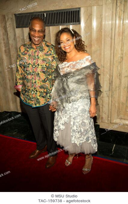 Joe Morton and Debbie Allen attend Sunday Matinee of 'Turn Me Loose' at Wallis Annenberg Center for the Performing Arts on October 15, 2017 in Beverly Hills