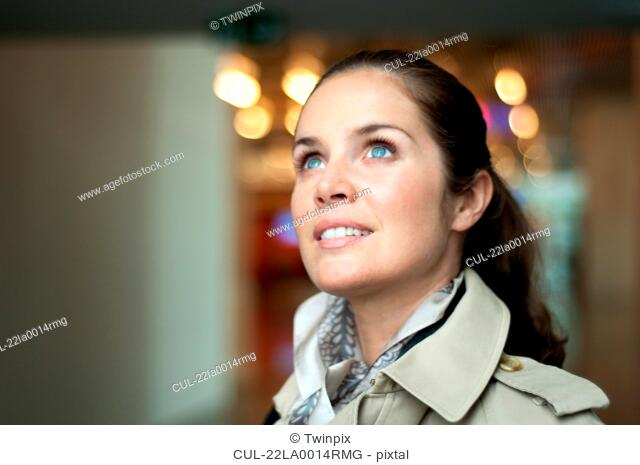 Portrait of a woman in airport