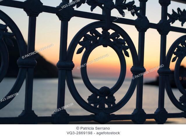 Sunset in Donostia - San Sebastian, Basque Country