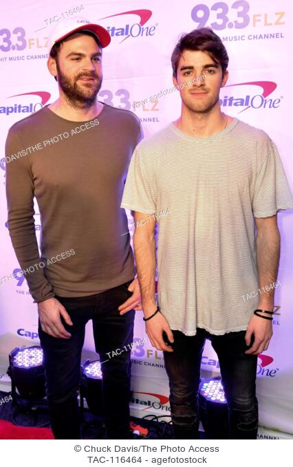 The Chainsmokers on the Red Carpet at 93.3FLZ's iHeart Radio Jingle Ball at Amalie Arena in Tampa, FL on Dec 17, 2016