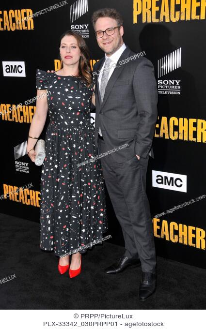 """Lauren Miller and Seth Rogen at """"""""Preacher"""""""" Season 2 Premiere held at the Theater at the Ace Hotel in Los Angeles, CA on Tuesday, June 20, 2017"""