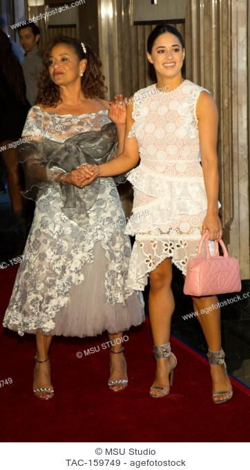 Debbie Allen and Jeanine Mason attend Sunday Matinee of 'Turn Me Loose' at Wallis Annenberg Center for the Performing Arts on October 15, 2017 in Beverly Hills