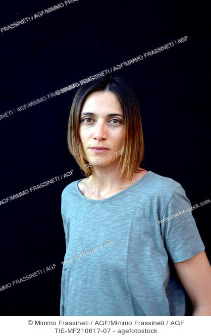 The actress Anna Foglietta during the Opening evening of International Literatures Festival, Rome, ITALY-20-06-2017