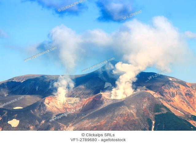 Erupting Volcano in Japan, Hokkaido