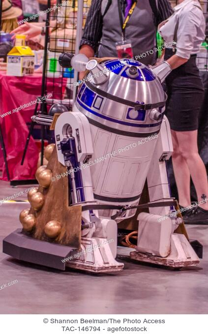 Fan created R2D2 roams the floor on June 24th 2017, at the Amazing Las Vegas Comic Con at the Las Vegas Convention Center in Las Vegas, NV
