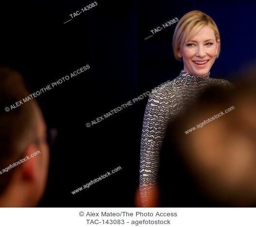 Cate Blanchett attends the Tribeca Film Festival screening of Manifesto on April 26th, 2017 in New York City