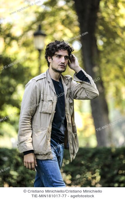 Louis Garrel during the photocall of the film Redoubtable. Rome, Italy 18/10/2017