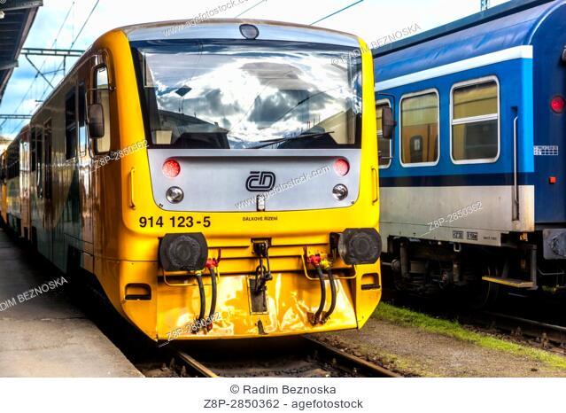 Czech railways, Locomotive Class 914, Czech Republic, Europe