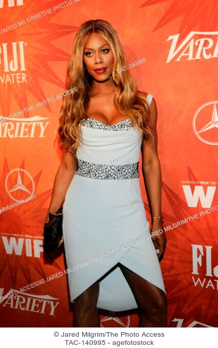 Laverne Cox arrives at the Variety and Women in Film Emmy Nominee Celebration sponsored by Mercedes-Benz and Fiji Water at Gracias Madre on September 18th