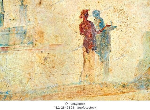 Roman Fresco of an exotic bird from The Large Columbarium in Villa ...