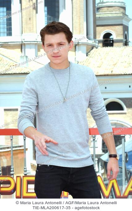 Tom Holland during the photocall of the film Spider Man: Homecoming. Zuma terrace, Rome, Italy 20-06-2017