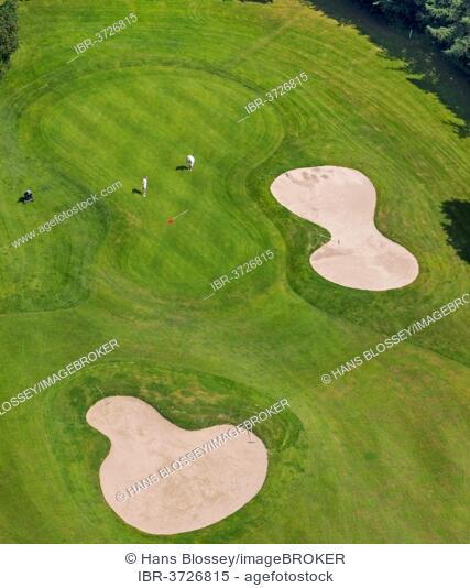 Aerial view, Golfclub Sauerland, Neheim-Hüsten, Arnsberg, North Rhine-Westphalia, Germany