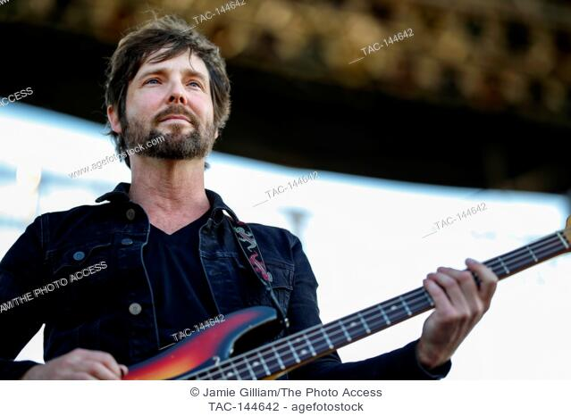 Alex Stiff, bass player of The Record Company performs at the 2017 Beale Street Music Festival at Tom Lee Park in Memphis, Tenn. on May 5, 2017