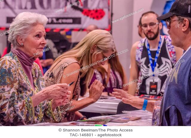 Lee Meriwether interacts with fans on June 24th 2017 at the Amazing Las Vegas Comic Con at the Las Vegas Convention Center in Las Vegas, NV