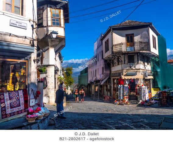 Albania, Ismail Kadarë street at Gjirokaster