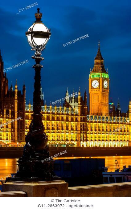 big ben; westminster; houses of parliamen;t night; london; england ;uk;