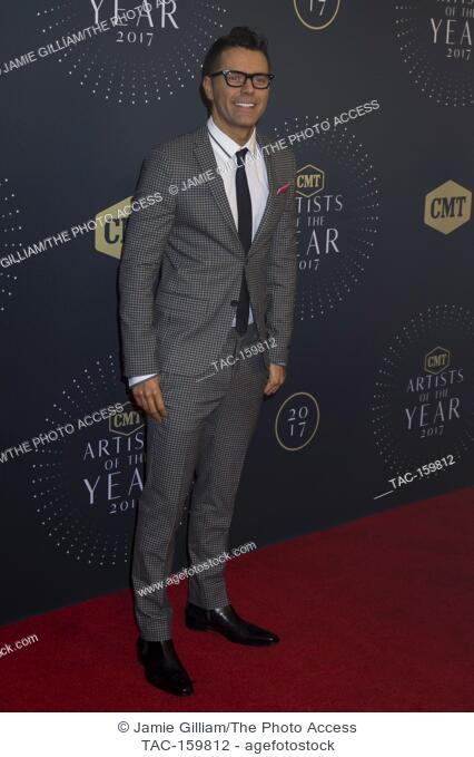 NASHVILLE, TN - Bobby Bones arrives on the red carpet at the 2017 CMT Artists of the Year at the Schermerhorn Symphony Center in Nashville, TN