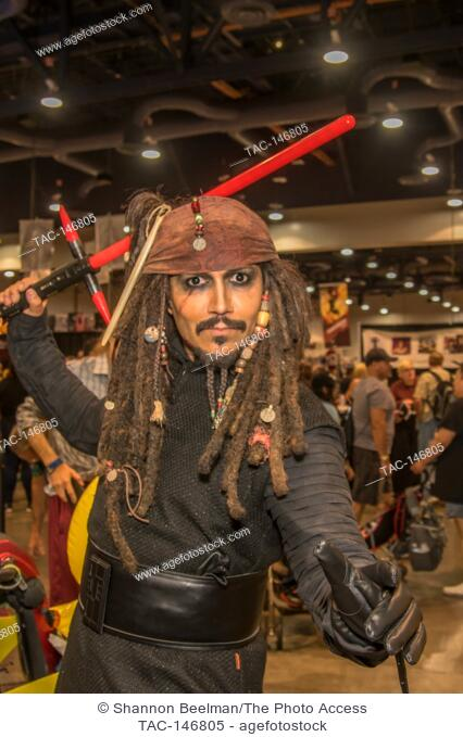 Fans show off their home made costumes on June 24th 2017 at the Amazing Las Vegas Comic Con at the Las Vegas Convention Center in Las Vegas, NV