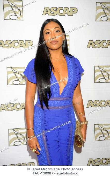 Melanie Fiona attends the ASCAP Rhythm and Soul Awards at the Beverly Wilshire Hotel on June 25th, 2015 in Beverly Hills, California