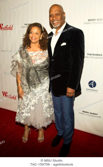 Debbie Allen and James Picken Jr. attend Sunday Matinee of 'Turn Me Loose' at Wallis Annenberg Center for the Performing Arts on October 15