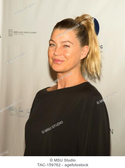 Ellen Pompeo attends Sunday Matinee of 'Turn Me Loose' at Wallis Annenberg Center for the Performing Arts on October 15, 2017 in Beverly Hills, California